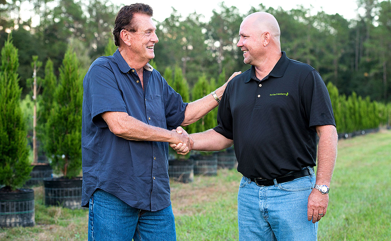Joel Butler, Glenn Harrell at Butler Tree Farm